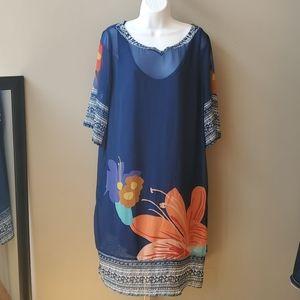 Soft Surroundings Dresses - Soft Surroundings Hibiscus Tunic Dress